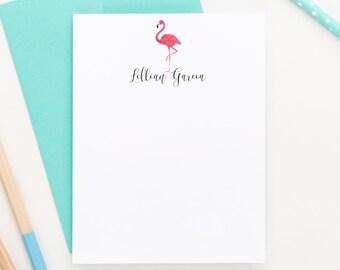 Flamingo Stationery, Custom Stationery, Personalized stationary, Flamingo Stationary, Thank you Cards, Stationery Set,  PS043