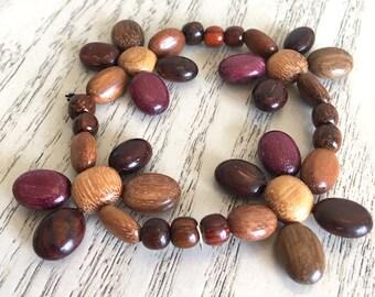 Wood Flower Bracelet, Handmade Costa Rican Jewelry