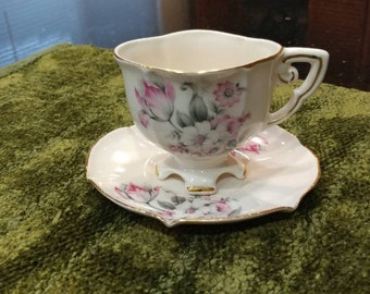Vintage Teacup and Saucer by Stafford