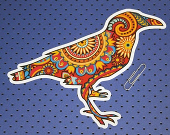 Paisley Raven Bumper Sticker