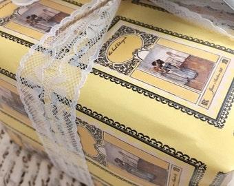 Gift Wrap 6 foot rolls of Jane Austen Bookplate, Mansfield Park paper