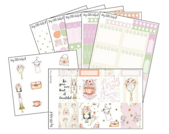 Planner Stickers Beautiful You Weekly Kit | fits the Erin Condren Vertical Life Planner
