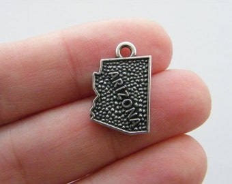 4 Arizona charms antique silver tone WT146