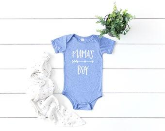 Mama's Boy Bodysuit / Blue / Newborn / Mother Baby Shirts