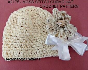 Chemo Hat crochet pattern,  hair loss hat, crochet hat pattern, women's hats, crochet for women, #2175, Crochet flower, quick easy pattern