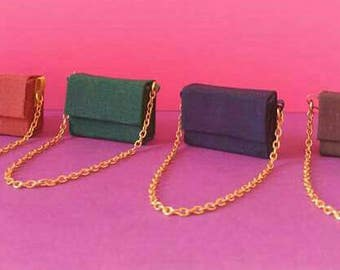 Doll type bag with chain Barbie scale 1:6//Miniature Accessories//Accessories Dolls