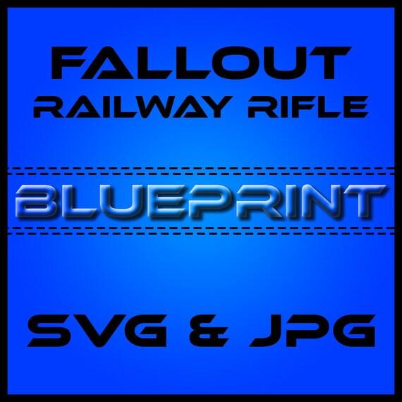 Items similar to fallout 3 railway rifle blueprints on etsy malvernweather Gallery