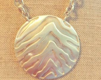 Vintage Silver Disc Necklace