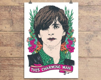 Johnny Marr - The Smiths - Greeting Card - This Charming Man - 80s Indie Greeting Card - Birthday - Friendship Card