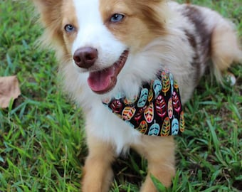 Feather Dog Bandana