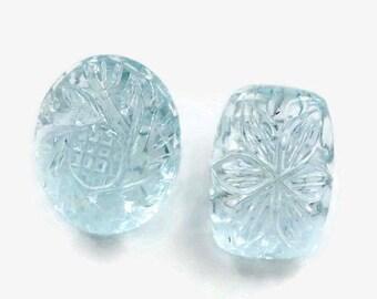 Natural Aquamarine Gemstone/faceted aquamarine loose stone/march birthstone/genuine aquamarine stone/santa maria aquamarine/aquamarine gem