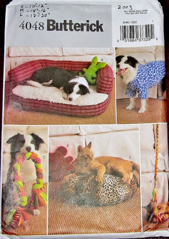 Basteln Nähen Muster Butt 4048 Haustier Zubehör Hund Katze