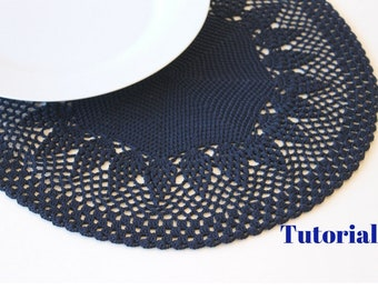 Macrame placemat etsy placemats digital pattern tutorial to realize crochet placemats or crochet table decor handmade creations do it solutioingenieria Images