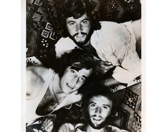 BeeGees Publicity Photo 8 by 10 Inches B&W