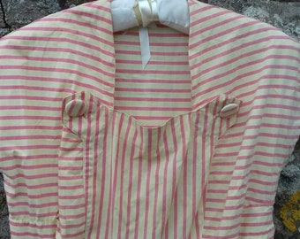 Vintage French Candy Stripe Sundress 1940s or 50s