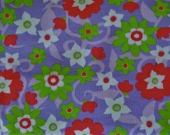 Floral Cotton Knit Fabric.