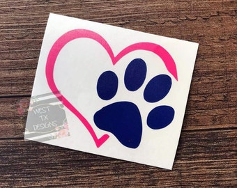 Paw Print Decal | Dog Decal | Dog Print Name | Personalized Paw Print | Animal Decal | Dog Car Decal | Vinyl Decal | Dog Love | Animal Paw