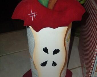 Apple paper towel holder