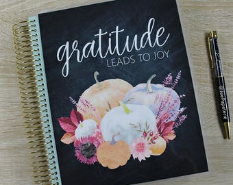 "Fall/Autumn Planner COVER: for Erin Condren Planner Cover, Happy Planner Cover, Recollections Cover, Levenger ""Gratitude Leads to Joy"""