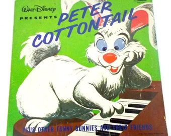 1962 Walt Disney Peter Cottontail Vinyl LP Record DQ 1234