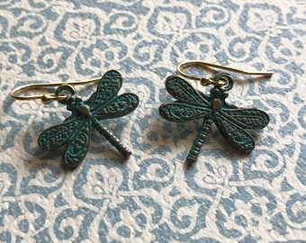 Cooper Dragonfly Earrings
