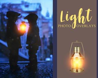35 Light overlays, PNG overlays