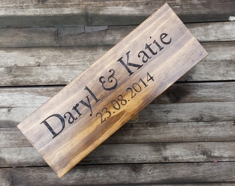 Rustic Wedding Custom Engraved & Personalized Champagne Box, Large wine box, First Fight Box, Liquor Box for Weddings and Special Occasions