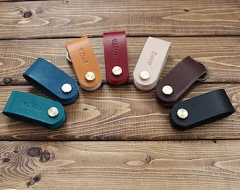 Personalized Leather KEY HOLDER, Key folder, key chain, Great gift ideas!