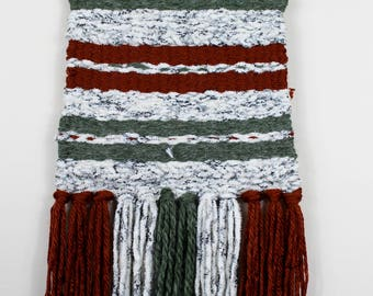 Earth Toned Woven Wall Hanging
