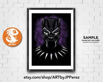 King of Wakanda | Premium Quality Giclee Archival Poster Print