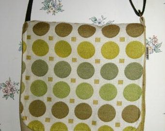 Green Dots-Messenger Bag