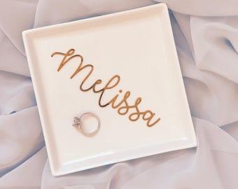 Personalized Ring Dish | Trinket Dish | Initial or Name | Jewelry Dish | Trinket Bowl | wedding ring | engagement ring dish | Ring holder