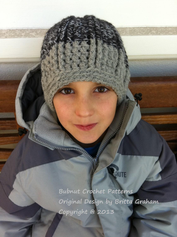 Crochet hat pattern for boys in bulky yarn Funky Chunky