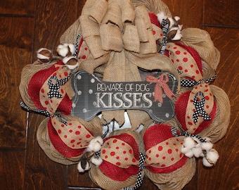 Beware of Dog Kisses Wreath