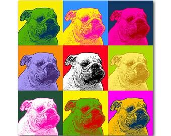 Andy Warhol custom pet portrait - Custom pet portrait - personalized pop art dog portrait - colorful dog illustration - dog lovers gift