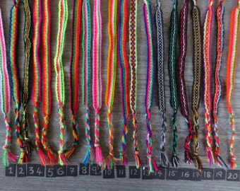 Wholesale Andean Rainbow bracelets - lot of 200