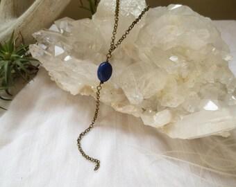 Lapis Lariat Blue Stone Y Necklace Lapis Lazuli