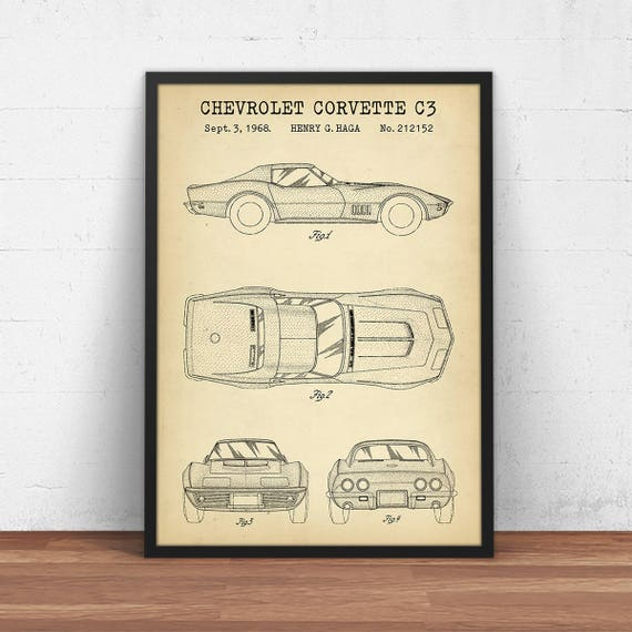 Chevrolet corvette c3 patent print digital download chevy te gusta este artculo malvernweather Gallery