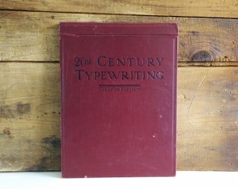 20th Century Typewriting College Edition c. 1930, vintage instructional book