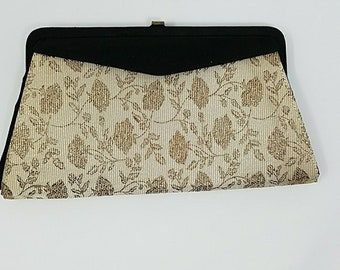 Reversible Clutch Black Ivory Gold