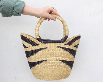 handwoven basket bag | woven shopping bag | fair trade