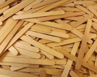 "500 ct Natural Wood Craft Sticks / Popsicle Sticks 4 1/2"" x 3/8"" Resealable Bag"