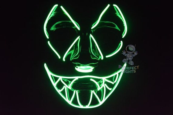 Halloween Mask SharpTooth El Wire Mask Perfect for
