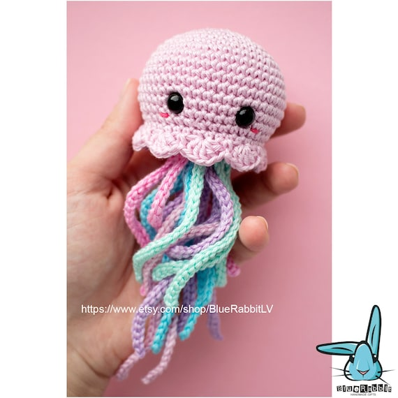 Kawaii Jellyfish Amigurumi Crochet Pattern Languages English