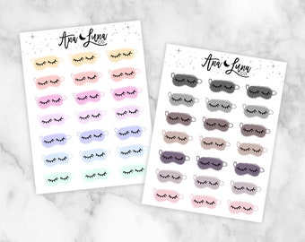 Sleeping Masks -  Functional Nap Sleep Planner Stickers for ECLP, personal, pocket etc.