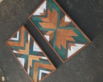 Pallet Wall Art 1ft x 2ft // Relaimed Wood // Rustic Decor