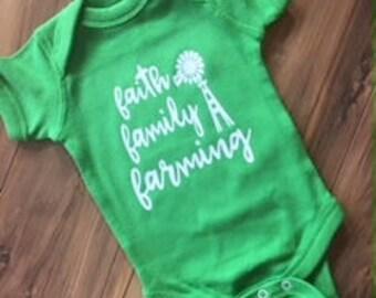 Faith Family Farming Onesie