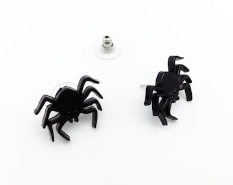 Spider Earrings Spider Jewelry Spider Gift Horror Earrings Horror Jewelry Horror Gift Halloween Earrings Halloween Jewelry Halloween Gift