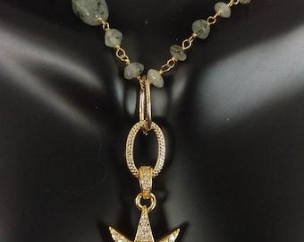Pave Sunburst Necklace