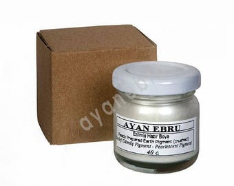 Ebru Marbling Paint Colors-Pigment Silver 40c (Ayan)